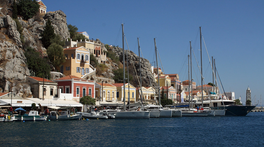 The harbour at Symi.