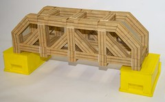 Modular origami truss bridge (ISO_rigami) Tags: modular origami a4 truss bridge zebra 3d paper construction