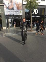 Meir Antwerp (valkex1) Tags: long leather coat shopping meir antwerp mature woman