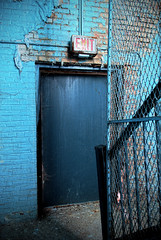 Easy Way Out (Wєirdlig) Tags: abandoned asylum urbex exploring trespass stairs exit cage fence