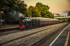 Pokesdown Black 5 45212 (Coolcats100) Tags: pokesdown steam station sigma canon 70d 2017 october dampflok railway black 5 45212 lms train sunset