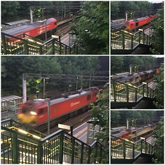 Terrible photos, but possibly the only one I'll get of 92016 on the rails...!! (TimboM) Tags: 66136 92011 92016 67006 67010 6z77 hartford 66 ews caravan freight consist yiwu class67 class66 class92 dbc dbcargo hartordstation wcml lococonvoy db
