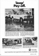 1968 Jeep Gladiator, Jeepster Commando, and Universal (aldenjewell) Tags: 1968 jeep gladiator pickup towtruck jeepster commando universal ad kaiser