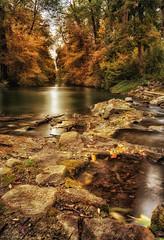 Herbstglühen / Erding / Stadtpark (drummerwinger) Tags: rot blätter herbst canon80d sigma ndfilter polfilter erding stadtpark water autumn