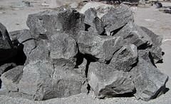 Black porphyritic dacite (upper Holocene, 14 May 1915; Devastated Area, Lassen Volcano National Park, California, USA) 62 (James St. John) Tags: black porphyritic dacite may 1915 holocene lassen volcano mt mount peak volcanic national park california lava igneous rock rocks cascade range