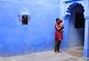 India- Rajasthan- Bundi (venturidonatella) Tags: india rajasthan asia bundi blue blu azzurro portrait ritratto gentes people persone nikon nikond300 d300 emozioni emotion colors colori