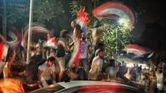 Egypt To The World Cup  Ending a 28 years wait :-) (Hazem Hafez) Tags: celebrations flags egypt football worldcup qualifiers cairo fans cheering chanting night crowds dancing singing