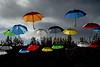 Parapluies à Carouge (Yves.Henchoz) Tags: nikond4 genève genf geneva suisse switzerland swiss svizzera flickrfriday simultanément nikkor24120vrf4 parapluies couleur umbrella