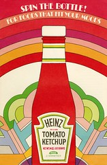 Spin the Bottle (grooveisintheart) Tags: groovy mod heinz ketchup vintage ephemera booklet recipes cookbook peter max art deco 1970