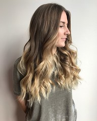 A cut and this beautiful 6 month grown out balayage by Tina