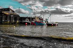 Boats moored  at  Viking Bay, Broadstairs 2 (philbarnes4) Tags: vikingbay broadstairs thanet kent england fishingboats sea dslr pier jetty philbarnes nikond5500 mooring moored clouds