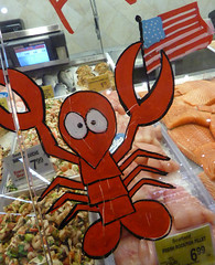Lobster Art at the grocery store (earthdog) Tags: 2015 animal art lobster shopping store grocerystore panasonicdmczs40 panasonic dmczs40