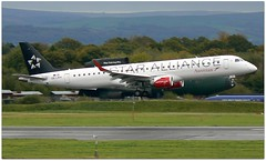 (Riik@mctr) Tags: manchester airport egcc oelwh grass airplane sky austrian airlines embraer 190195 msn 486 ex daebj star alliance livery