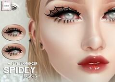 WarPaint* @ Applique - Spidey lashes (~✰ Mafy ✰~) Tags: warpaint war paint applique appliqué applier lashes eyelashes catwa makeup falsies spidey spiderweb bento
