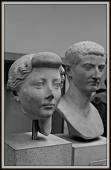 British Museum: B&W Livia and the emperor Tiberius (dominotic) Tags: london england britishmuseum bw history antiquity blackandwhite statue roman culture sculpture architecture carving artefacts museum objects marble bust empresslivia emperortiberius julioclaudiandynasty