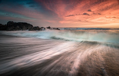 The Pull. (explore) (Gareth Mon Jones) Tags: seascape waves sunset wales