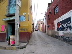 Alley scene (thomasgorman1) Tags: alley signs buildings street town mexico streetphotos car advertisements canon public