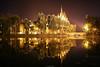 The Vajdahunyad castle (Yannis Raf) Tags: canon canon6d 6d ef24105mmf4 vajdahunyad budapest hungary nightphotography nightlights reflections lake light symmetry symmetric longexposure water