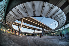 Riebeckplatz in Halle (Saale) (p h o t o . w o r l d s) Tags: riebeckplatz hallesaale sachsenanhalt fischauge fisheye hdr tonemapping photoworlds photomatix fujixt10 7artisans75mm28