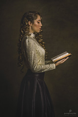 The Governess / La Institutriz (Jesus Solana Poegraphy) Tags: governess institutriz teacher beauty lady poegraphy fineartphotography book class victorian
