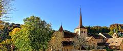 Abbatiale de Romainmôtier (Diegojack) Tags: romainmôtier vaud suisse monuments abbatiale abbaye panorama automne