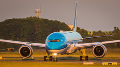 PH-BHF (tynophotography) Tags: ams eham schiphol amsterdam phbhf sunset airport klm 789 7879 dreamliner 787 boeing