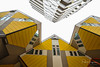 Cube houses (6) - Rotterdam (PaulHoo) Tags: nikon d700 wideangle kubuswoning blaak rotterdam city urban holland house woning piet blom 2017 yellow color architecture diagonal shape pattern texture window netherlands design