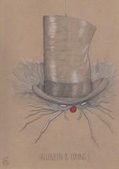 Halloween is coming !! (Klaas van den Burg) Tags: spider evil blackandwhite clown halloween pencil funny scary humor