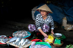 Fish Market Lady (Stuart Jamieson Photography) Tags: hoian ancientcity boatman fish markets people travel travelphotography vietnam wanderlust