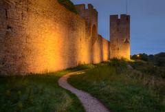 The Wall of Visby II (henriksundholm.com) Tags: medieval history historical wall landscape dusk path grass citywall visby gotland hdr sverige sweden ringmur