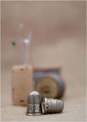 Still Life  Thimbles etc. (mtwhitelock) Tags: sewing thimbles stilllife dof