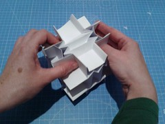 Flexicube, compressed (ISO_rigami) Tags: modular origami cube polyhedron flexible kinematic kinetic a4 3d action