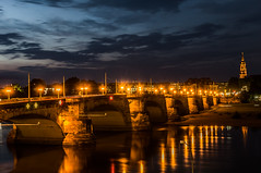 Dresden - Augustusbrücke (noise-fotografie.de) Tags: nacht dresden deutschland urlaub sachsen architektur wetter architektonik baustil germany night weather architectural architecture architekturphoto