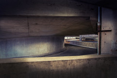 Slow Merging Traffic (shutterclick3x) Tags: parking garage geometry moody color curves frankloose
