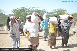 Monareliefye.org launches the fifth phase of food aid distribution in Hodeidah funded by UK charity al-Khair Foundation