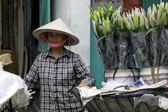The Flower Lady (Hubert Streng) Tags: lady woman flower market vendor vietnam hanoi