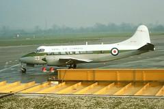 XM296 DH Heron Royal Navy BHX 04-01-78 (cvtperson) Tags: xm296 dh heron royal navy birmingham bhx egbb
