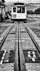 San Francisco, CA (photobug56) Tags: trolley sanfrancisco california cablecar blackwhite publictransportation rails powellmarket turntable