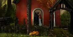 Will you take this woman (Xafira Cortes (Photographer)) Tags: secondlife avatar model maitreya catwa mesh halloween demon wedding pumpkin church netherwood blood wings