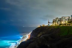 Miraflores, Lima, Peru (Maria_Globetrotter) Tags: peru dscf1185hdrlr long exposure blue hour twilight lima miraflores lighthouse beautiful pov perspective