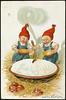 No. 9458. God Jul! (National Library of Norway) Tags: nasjonalbiblioteket nationallibraryofnorway postkort postcards julekort christmascards jul christmas jennynystrøm barn grøt julegrøt nisseluer epler apples