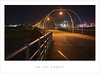 On the corner (Parallax Corporation) Tags: southport southportpier nighttime boardwalk tramlines railings marina arches spotlights