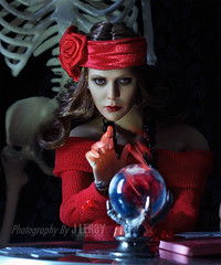 Happy Halloween (Culte De Paris) Tags: halloween 2017 trick or treat fortune teller magic winter soldier hot toys red witch figure action superhero captain america metal arm skull mystery holiday taro cards dolls miniature diorama fr fashion royalty agnes phicen