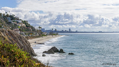 Coastal Clouds (OffdaLipp) Tags: california losangeles pacificpalisades malibu pacificcoasthighway pch beach westcoast ocean homes clouds leica offdalipp landscape santamonica santamonicabay
