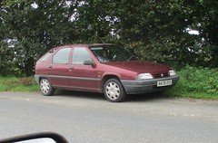Citroen ZX 1.4i Advantage (occama) Tags: n476oyo 476 citroen zx advantage 14 old car cornwall uk 1995 red french