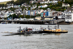 Car Ferry at Dartmouth (Dave_S.) Tags: kingswear dartmouth river dart estuary devon engand uk gb tug car vehicle ferry nikon d7200 united kingdom great britain british english crossing traffic harbour port boat ship working work vessel coolestphotographers water landscape building