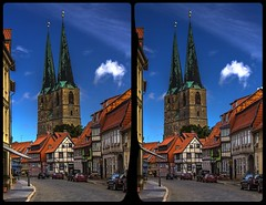 Quedlinburg Cathedral 3-D / Stereoscopy / CrossEye / HDR / Raw (Stereotron) Tags: sachsenanhalt saxonyanhalt ostfalen harz mountains gebirge ostfalia hardt hart hercynia harzgau quedlinburg dom kirche church architecture fachwerk halftimbered house stud work antiquated ancient medieval middleages europe germany crosseye crosseyed crossview xview cross eye pair freeview sidebyside sbs kreuzblick 3d 3dphoto 3dstereo 3rddimension spatial stereo stereo3d stereophoto stereophotography stereoscopic stereoscopy stereotron threedimensional stereoview stereophotomaker stereophotograph 3dpicture 3dglasses 3dimage twin canon eos 550d yongnuo radio transmitter remote control synchron kitlens 1855mm tonemapping hdr hdri raw equirectangular