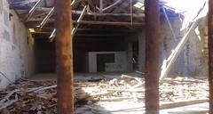 Welcome (efti.hia) Tags: postapocalyptic postapocalypse ruins building debris bars woodenroof destroyed rundown spooky menacing graffiti abandoned