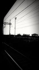 B&N (lucianoserra490) Tags: frecciargento finestrino treno biancoenero binari