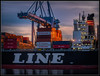Loading the K Line (Ernie Misner) Tags: ship longshoreman portoftacoma tacoma tacomawashington erniemisner nikon d810 lightroom nik topazstudio capturenx2 cnx2 70200f4 f8andloveyourport